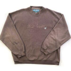 Big Dogs Pullover Sweatshirt Mens Sz XL Brown Long Sleeve Fleece Embroidered