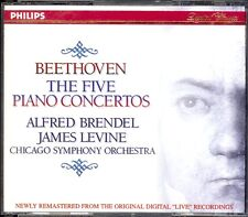 BEETHOVEN - 5 Piano Concertos - Alfred BRENDEL / James LEVINE - Philips 3CDs