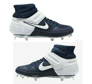 NIKE ALPHA HUARACHE ELITE 2 MID BASEBALL CLEATS NAVY CI2227-401 MENS SIZE 11