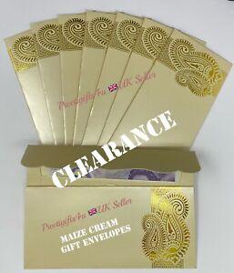 5/10/50 Cream Money Gift Envelopes Shagun Salami Wedding Rakhi Cash Gift Wallets