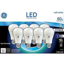 GE LED Soft White A19 Bulb 60W 800 Lumen 20 Boxes of 8 bulb total = 160 Bulb NEW
