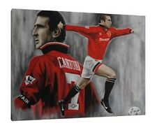 Eric Cantona 30x24 Inch Canvas - Manchester United Framed Football Picture