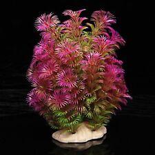 Artificial Plant 15-20 cm Aquarium Decoration Water Plant purple + green LW