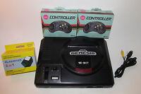Original Sega Genesis Console System MK-1601 W/ 2 Controllers & Hookups *CLEAN