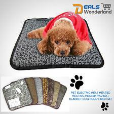 Pet Electric Heat Heated Heating Heater Pad Mat Blanket Bed Dog Cat Bunny UN
