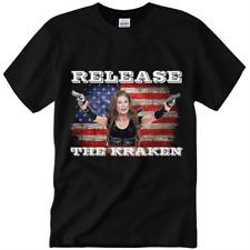 Sidney Powell Release The Kraken Trump Unisex T-Shirt American flag,Funny Gift!