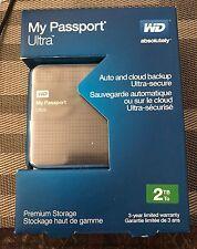WD My Passport Ultra 2TB USB3.0 Portable Hard Drive w/ Auto Backup WDBMWV0020BTT