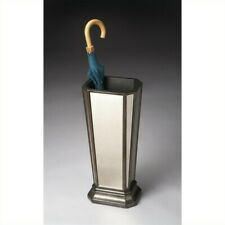 Beaumont Lane Mirrored Umbrella Stand in Pewter