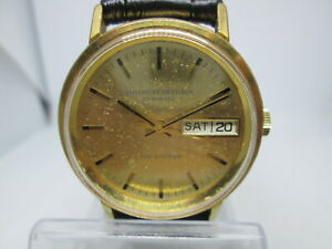 VINTAGE GIRARD PERREGAUX GYROMATIC THE STRIDER DAYDATE GOLDPLATED MENS WATCH