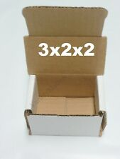 18 EXTRA SMALL White Corrugated Boxes 3x2x2 Little Gift Storage Boxes