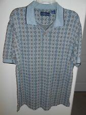 Chereskin Polo Golf Shirt Men's Size  L Gray,Tan & Black Cotton Blend FREE SHIP!