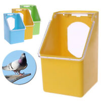 Bird Feeder Water Food Feeding Parrot Cage Plastic Bowl Pigeon Drinking Box Hot