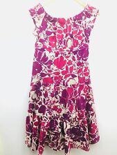 Kookai Womens Dress Sleeveless Ruffle Purple Empire Shift Summer Lined Sun