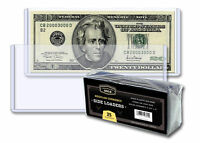 25 CBG 6.5x3 Regular Small US Currency Dollar Bill Rigid Hard Topload Holders
