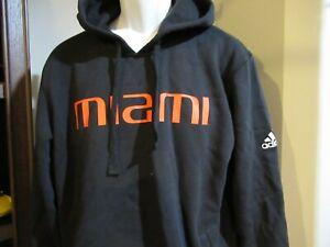 Miami Hurricanes Adidas Hoodie Sweatshirt Men's Large nwt Free Ship