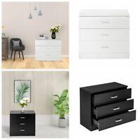 3 Drawer Chest Dresser Bedroom Furniture Storage Cabinet Organizer Black/White
