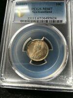1912  Newfoundland, ¢10 Cent, PCGS Graded, **MS-67**Stunning