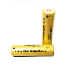 2 X BATTERIE LITIO LITHIUM BATTERIE RICARICABILI STILO LI-ION 8800mAh 3.7V 18650