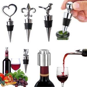 Stainless Steel Bottle Stopper and Pourer Wine Spirits Sealers Drink Metal Corks
