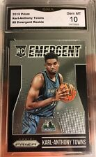 2015 Karl Anthony Towns rookie Of The Year card Gem Mint 10 Prizm Emergent Sp B
