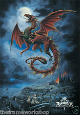ALCHEMY WHITBY WYRM DRAGON  3D MOVING PICTURE 300mm x 400mm