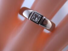 edler Ring mit Princesscut Diamant Solitär -  A. Odenwald deutsche Nobelschmiede