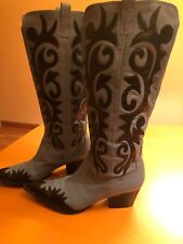 J RENEE  Rogers  Women Western Cowgirl Boots, LEATHER Upper,Sz 9.5 New