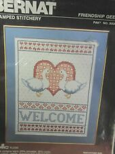 """Stamped Cross Stitch Kit Sealed """"Friendship Geese"""""""
