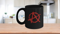 Punk Rock Red Anarchy A Mug Black Coffee Cup Funny Gift for Ancom Communist