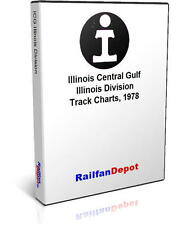 Illinois Central Gulf Illinois Division track chart - PDF on CD - RailfanDepot