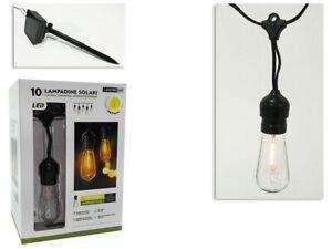 Lampada lampadina a energia solare set 1 lampade catena luminosa giardino festa