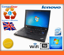"Laptop Lenovo Thinkpad T400 14"" Core 2 Duo 2.4GHz, 4GB Ram, 160Gb, Win 7 Pro,"