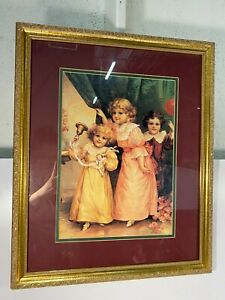 "Thomas Cathey ""Party Time"" Framed Picture Print Arthur Kaplan Co 3rd Printing"