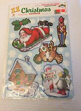Vintage Christmas Beistle die-cuts 11 NIP double sided 1991