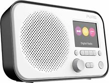 Pure Elan E3 Portable Digital DAB FM Radio With Alarm - Black Brand new boxed