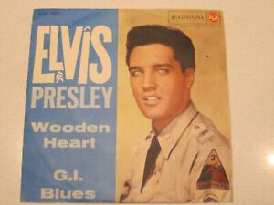 *ELVIS PRESLEY-WODEN HEART-G.I.BLUES* 45 GIRI - 45N 1150 - RCA ITALY - 1961