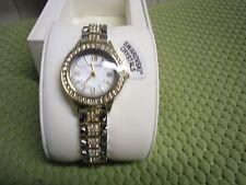 New ! Anne Klein Women's Swarovski Crystal Accented Two-Tone Bracelet Watch