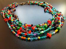 Mehrfarbige Modeschmuck-Halsketten & -Anhänger im Collier-Stil mit Kristall