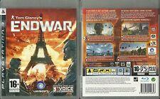 JEU PlayStation 3 PS3 : TOM CLANCY ' S ENDWAR ( SONY ) COMME NEUF / EN FRANCAIS