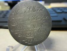 1886 Tabernacle Chapter Malden MA Masonic Silver Mark Alonzo P Moore Engraved