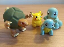 Lot of 4 1999 Pokemon Figures, Squirtle Roller, Golem Spinner, Pikachu,Squirtle