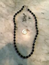 vtg NAPIER mourning flapper black glass beads choker gothic steampunk necklace