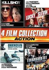New KILLSHOT/LUCKY#SLEVIN/UNKNOWN/TOURNAMENT 2-Disc DVD 4 Film Action Collection