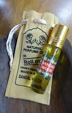 Indian Roll On Natural Perfume Oils 10ml With Drawstring Bag Sandalwood
