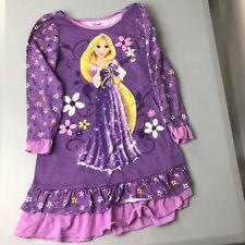Disney Girls Small 5/6 Tangled Nightgown Pajamas Purple Princess PJs Rapunzel