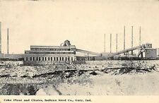Gary Indiana Steel Co Coke Plant & Chutes Antique Postcard (J34976)