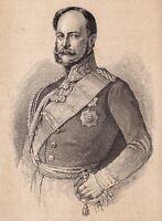 Portrait XIXe Guillaume Ier Roi de Prusse Wilhelm I. Deutsches Reich Preußen