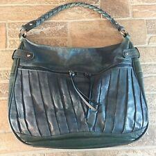 COLDWATER CREEK Large Blue Leather Shoulder Hobo Tote Satchel Slouch Purse Bag K