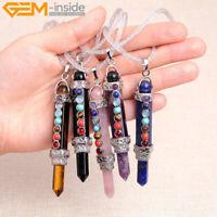 7 Chakra Gemstones Energy Healing Reiki Stones Pendulum Pendant Necklace GIft