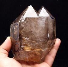 1050g  NATURAL Unique skeletal Enhydro Elestial QUARTZ Crystal Point Specimen